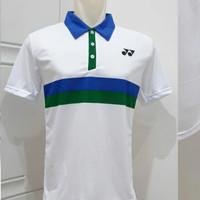 baju kaos jersey badminton atasan bulutangkis y-2001 putih