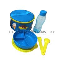 Tupperware Blue Yummy kids lunch set dengan tas dan cutlery