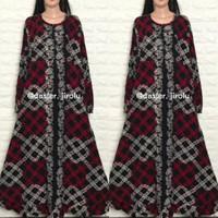 Kaftan gamis baju muslim wanita lengan panjang katun terbaru OPELIA - Mandisa