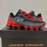 Sepatu Fashion Pria Under Armour Scorpio Black Red Grey