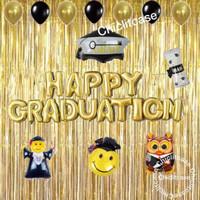 set paket balon happy graduation kelulusan wisuda sekolah kuliah