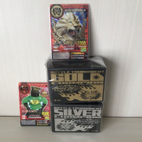 Set ultra rare tournament card + box silver & gold