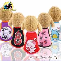Baju kaos anjing kucing lucu murah simple kostum clothes dog puppy