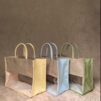 Tas Karung Goni Kanvas Mika Goodie Bag Hampers Souvenir - Bordir Nama