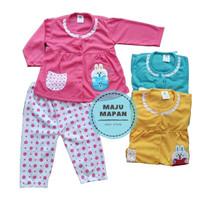 ZPY17 Setelan Baju Bayi Piyama Bayi Panjang Perempuan KELINCI BORDIR