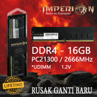 RAM IMPERION DDR4 16GB 2666 MHz PC21300 RAM PC LONGDIMM GARANSI RESMI