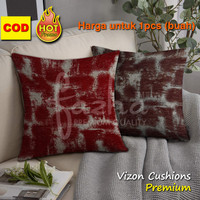 Cover Cushion Bantal sofa kursi Mobil Hotel Kantor Baru Maroon 40x40