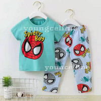 Piyama Premium / Baju tidur anak / Piyama kaos / Baju santai anak - Spider Boy, 55