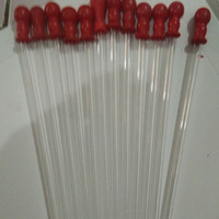 pipet tetes karet merah pj 40cm bahan pyrex