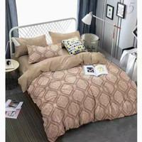 Bed Cover dan Sprei 200x200 Katun Jepang Brown Batik