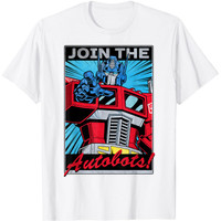 Baju Anak Transformers Optimus Prime Join The Autobots Poster T-Shirt - S