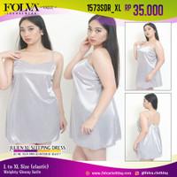 FOLVA baju tidur tanktop dress satin 1573SDR_XL big size XL jumbo