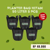 Paketan 5 pcs Planter Bag Hitam 50 Liter Pot Tanaman Buah Tabulampot
