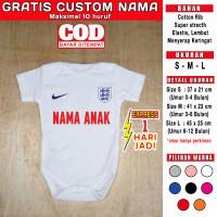 Jumper Bayi england inggris GRATIS CUSTOM NAMA negara euro world cup