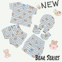 4PCs Baju bayi halus nasuka katun motif lucu / Baju bayi baru lahir