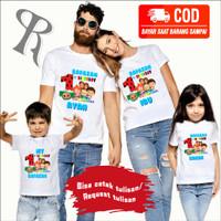 KAOS COUPLE FAMILY BAJU ULANG TAHUN ANAK TEMA COCOMELON-BEST SELLER-