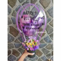 Box balon custom sticker snack bucket bouquet buket