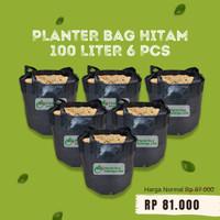 Paketan 6 pcs Planter Bag Hitam 100 Liter Pot Tanaman Buah Tabulampot