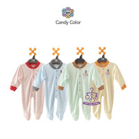 NOVA Jumper Panjang Tutup Kaki- Baju Kodok Bayi Color Ukuran 0-3 Bulan