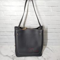 Tas Handbag Wanita Import Fashion Tas Kerja Pergi - Hitam