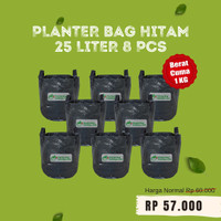 Paketan 8 pcs Planter Bag Hitam 25 Liter Pot Tanaman Buah Tabulampot