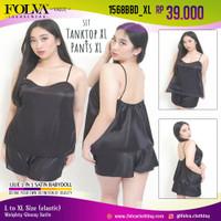 FOLVA baju tidur tanktop hotpants satin 1568BBD_XL Big Size Jumbo XL