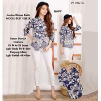 Atasan blouse batik cewek Baju blouse kerja wanita kantor model baru