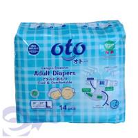 Oto Adult Diapers / Popok Dewasa Perekat Ukuran L - Isi 14 x
