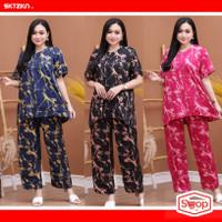 Baju Tidur wanita setelan Batik all size LD110cm LP112cm