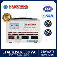 Stabilizer MATSUYAMA 500 Watt 500VA Stavolt Stabiliser AVR/L-0,5GS