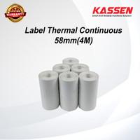 LABEL THERMAL CONTINUOUS 58MM ( 4 METER )