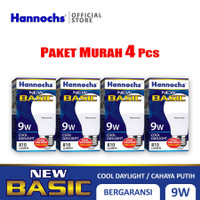 Hannochs - Lampu LED New Basic - 9 watt - Cahaya Putih (Paket 4 PCS)