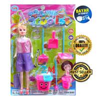 Mainan Anak Cleaning Tools - Alat Kebersihan Plus Boneka B990