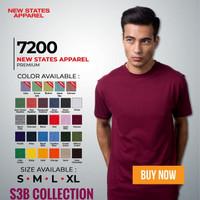 Kaos Baju Polos Premium NSA 7200 MURAH S M L XL