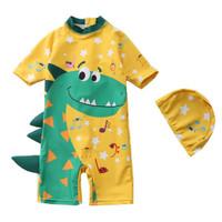 baju renang import anak laki balita dino kuning lucu one piece