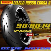 PIRELLI DIABLO ROSSO CORSA 2 II 90/80-14 BAN SOFT COMPOUND MIO BEAT