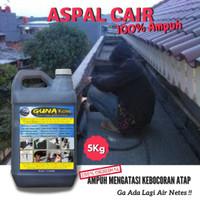 Aspal Cair Pelapis Anti Bocor Dinding Tembok Lantai Atap 5kg
