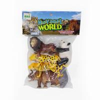Mainan Anak BInatang Karet Happy Animal World
