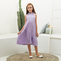 Dress Anak Perempuan TinyTales Chacha Usia 6 7 8 9 10 Tahun Ungu