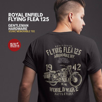 Kaos WD RE Royal Enfield Pegasus Classic Motor Biker World War Vintage - L
