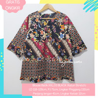 Baju Blouse Atasan Blus Batik Top Jumbo Big Size Wanita Cewek XXL03BLC