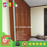 PVC Folding Door - Penyekat Ruangan bahan plastik