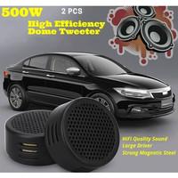 Speaker Mini Dome Tweeter Mobil HiFi 500W/800W 2 PCS - Black