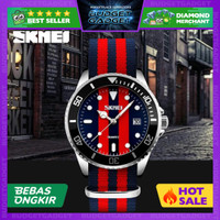 SKMEI Casual Men Colorful Army Strap Watch Water Resistant 30m - 9133C