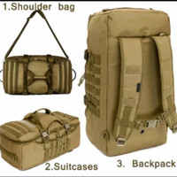 traveling tas tactical army tas ransel brimob 3in1 jumbo 75L