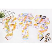 Setelan Baju Tidur Anak Perempuan Laki Laki Tie Dye Kuda 1-2 Tahun   M