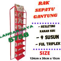 RAK SEPATU GANTUNG/TEMPAT SEPATU/RESLETING/FULL TRIPLEK/9 SUSUN