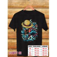 Baju / Kaos Digital Printing / One Piece/ Luffy 02 - Size M