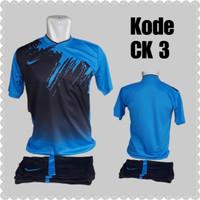 1 lusin/12 set baju kaos olahraga jersey stelan futsal voley bola CK-3