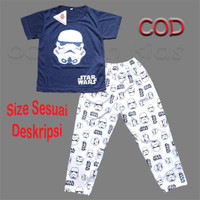 Setelan baju tidur anak laki-laki size 1-14 tahun starwars - Navy, Size 4